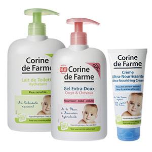 doses d'essai de soins bébé Corine de Farme