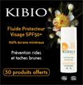 échantillon test fluide visage spf50+ kibio