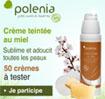 échantillon test crème teinté Polenia