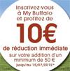 10€ de réduction pour Buffalo-grill
