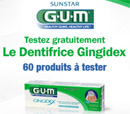 échantillon test dentifrice GUM