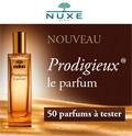 échantillon test de parfum Nuxe
