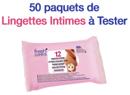 échantillon test lingettes Intimes Fresh Control