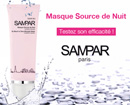 échantillon test masque hydratant et repulpant Sampar