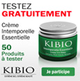 échantillon test crème anti-rides Kibio