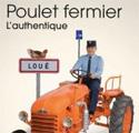 Affiche publicitaire humoristique de poulet Loué