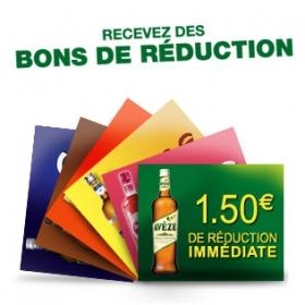 Bons de réduction pour des bouteilles d'apéritifs