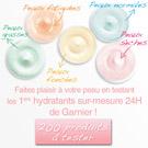 échantillon test crème hydratante Garnier