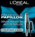 échantillon test d'un mascara de L'Oréal