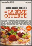une pizza gratuite... avec des coupons