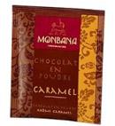 échantillon test de chocolat en poudre
