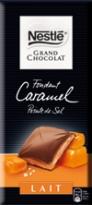 échantillons tests de tablettes de chocolat Nestlé