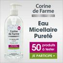 échantillon test de l'eau micellaire Corine de Farme