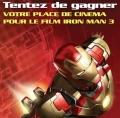Gagnez une place de cinéma Iron Man 3