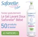 échantillon test de gel lavant Doux bébé