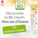 échantillons tests de BB cream SO'BIO étic