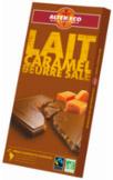 échantillon test de chocolat caramel beurre salé