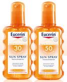 échantillon test d'un spray solaire Eucerin