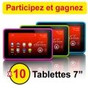 Gagnez une tablette tactile