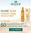 Testez gratuitement 2 produits de la marque Nuxe Sun.