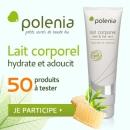 échantillon test de lait corporel Polenia