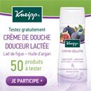 échantillon test de la crème de douche Kneipp