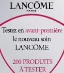 échantillon test de soin Lancôme