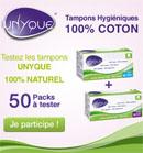 Testez les tampons Unyque 100% coton