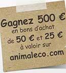 Gagnez des bons d'achat Animal & Co