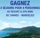 2 séjours à Cannes à gagner