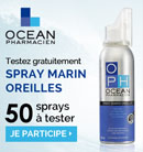 échantillon test de spray marin oreilles