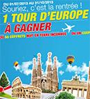 Gagnez un voyage en Europe !