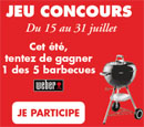 5 barbecues à gagner
