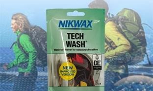 Échantillon gratuit de l'imperméabilisant Tech Wash de Nikwax
