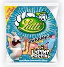 échantillons tests de bonbons Lapins Crétins