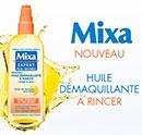 échantillon test d'huile démaquillante Mixa