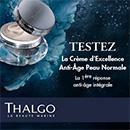 échantillon test de crème Anti-Âge par Thalgo