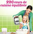 220 cours de cuisine équilibrée à gagner