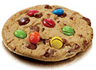 échantillons tests de cookies au M&m's