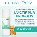 échantillon test de l'Actif pur Propolis d'Etat Pur