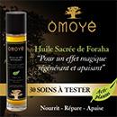 échantillon test d'Huile de Foraha d'Omoyé