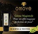 échantillon test de crème magistrale d'Omoyé