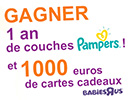 Concours pour gagner des couches Pampers
