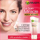 échantillon test du soin miracle de Garnier