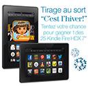 tablettes Kindle à gagner