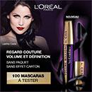 échantillon test de Mascara L'Oréal