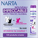 échantillon test de déodorant Narta