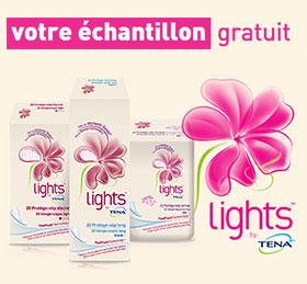 Échantillon gratuit de protège-slip Lights by Tena