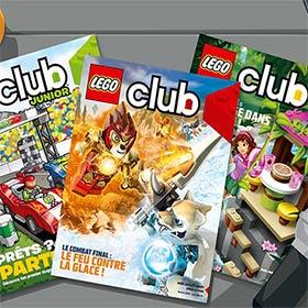 Recevez les magazines Lego Club gratuitement