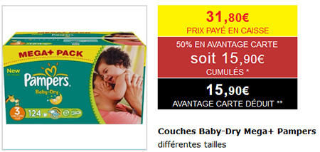 Bon plan couches pampers 50 chez intermarch - Bon de reduction couches pampers a imprimer ...